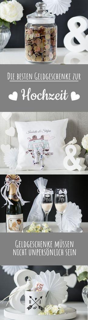 Die besten Geldgeschenke zur Hochzeit - ganz persönlich und individuell. #Hochzeitskissen #Personello #Personalisiert