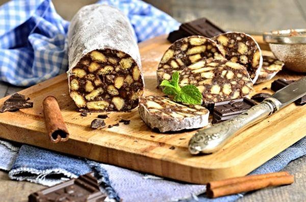 Recept : Čokoládový salám   ReceptyOnLine.cz - kuchařka, recepty a inspirace