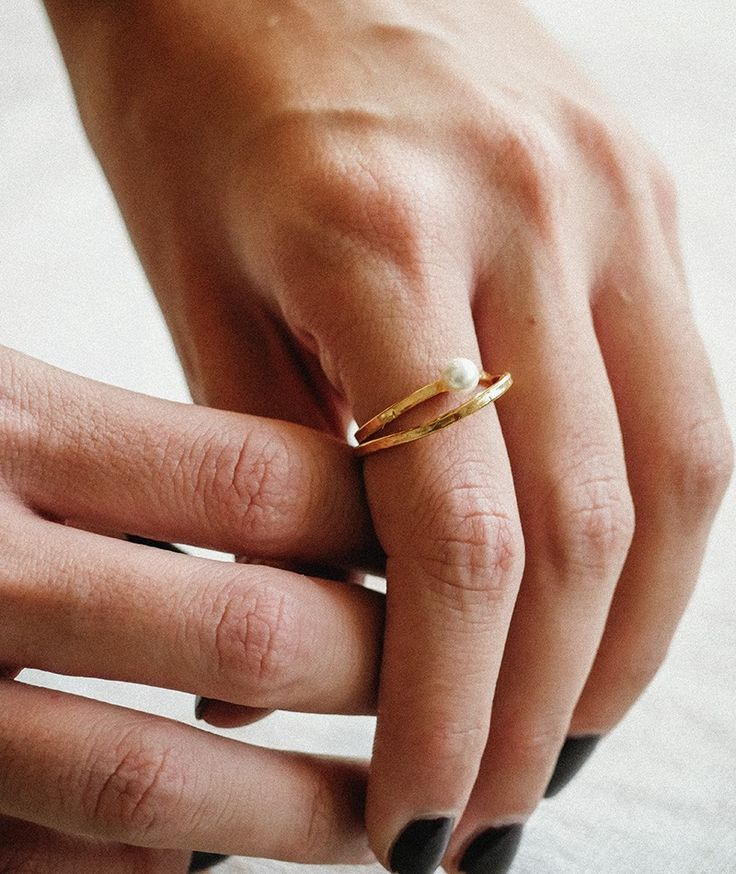 Shelled Pearl Ring - Handmade by myfashionfruit.com