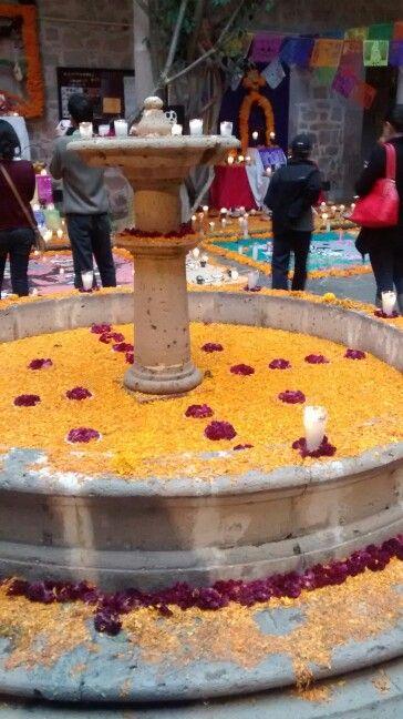 Nova Spania Institute, day of the dead decoration, in Morelia, Mexico c: