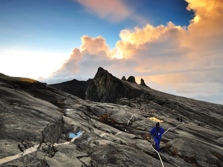 Located in Sabah on northern Borneo, Kinabalu Park is defined by the 13,435-foot-tall Mount Kinabalu, the highest mountain in the country. The park became a UNESCO site in 2000 due to its wide range of habitats and plant life.