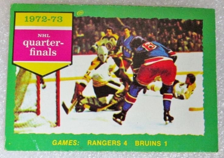 1973-74 OPC NHL PLAYOFFS NY RANGERS VS BOSTON BRUINS HOCKEY CARD! 72/73 Q-FINALS #OPC #BostonBruins