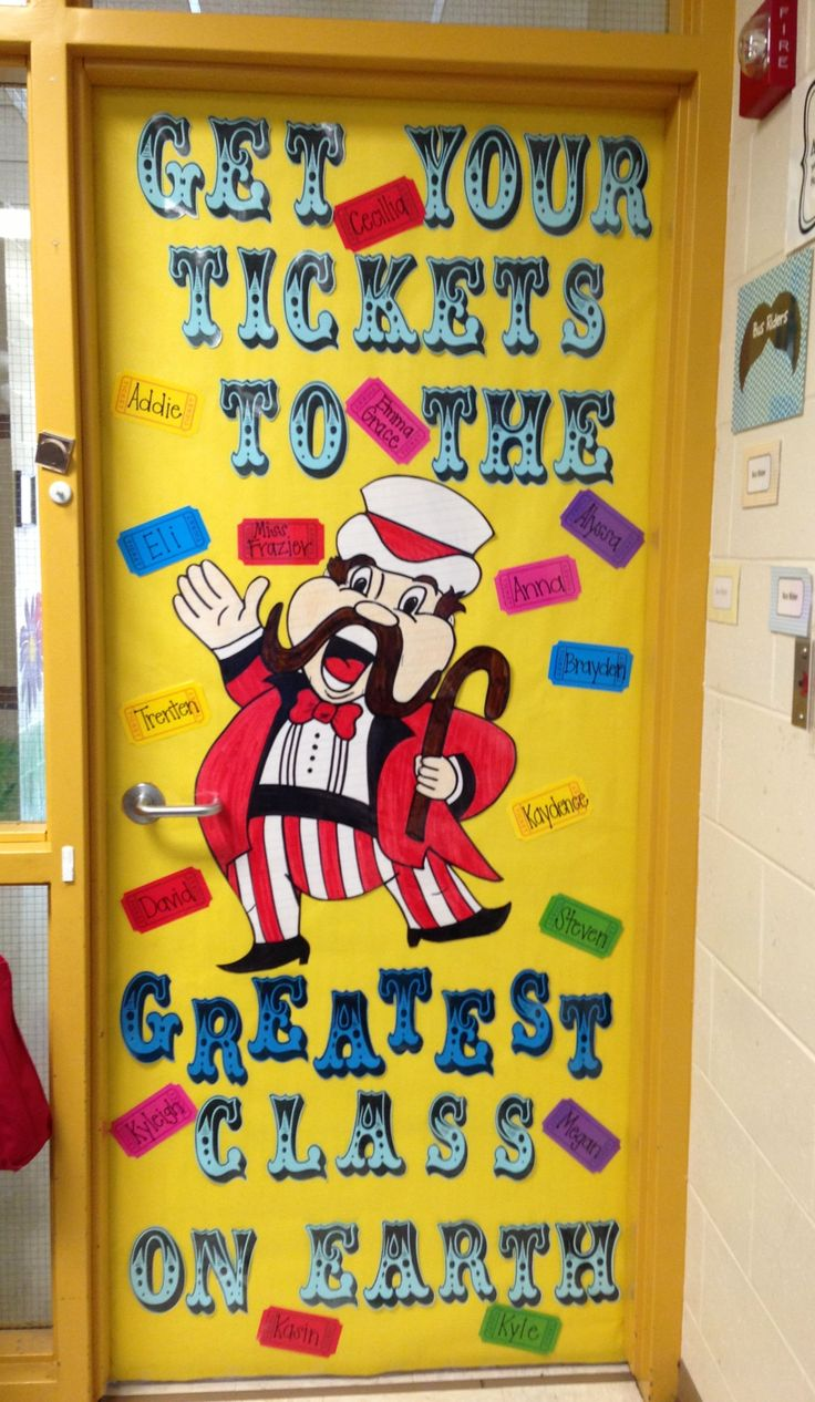 Go green vegetable bulletin board idea myclassroomideas com - Get Your Tickets To The Greatest Class On Earth An Adorable Door Decoration For A Circus Unit
