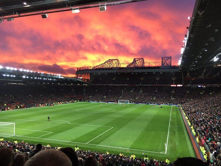 Red sky over Old Trafford, December 2016