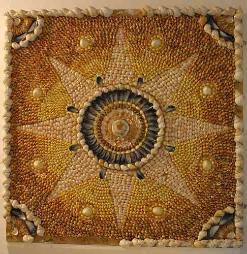 520 best seashells images on pinterest starfish sea for Seashell mosaic art
