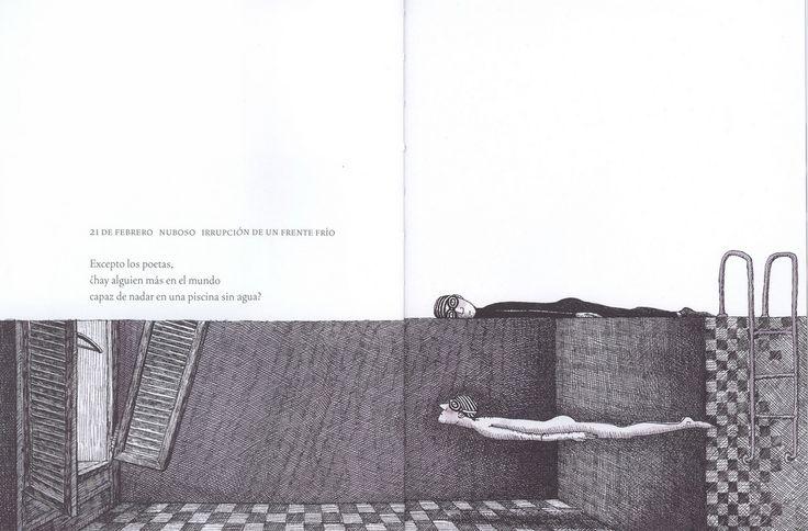 """Excepto los poetas, ¿hay alguien en el mundo capaz de nadar en una piscina sin agua? (Jimmy Liao, """"Hermosa soledad"""")."""