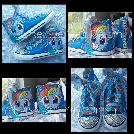 My Little Pony Custom Converse Swarovski by PurseSueYourDream