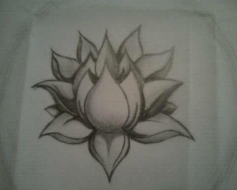 Lotus Tattoo (Pencil) - such a beautiful design