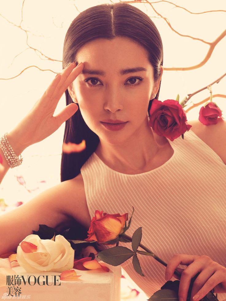 LI Bingbing with flowers for Vogue and L'Officiel Hommes | Cfensi