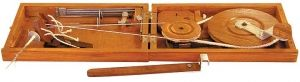 Kromski Charkha Spinning Wheel from Gemini Fibres.  I saw one of these for sale at a fiber festival but didn't get to ask the vendor about it.  I would live to see it in operation.