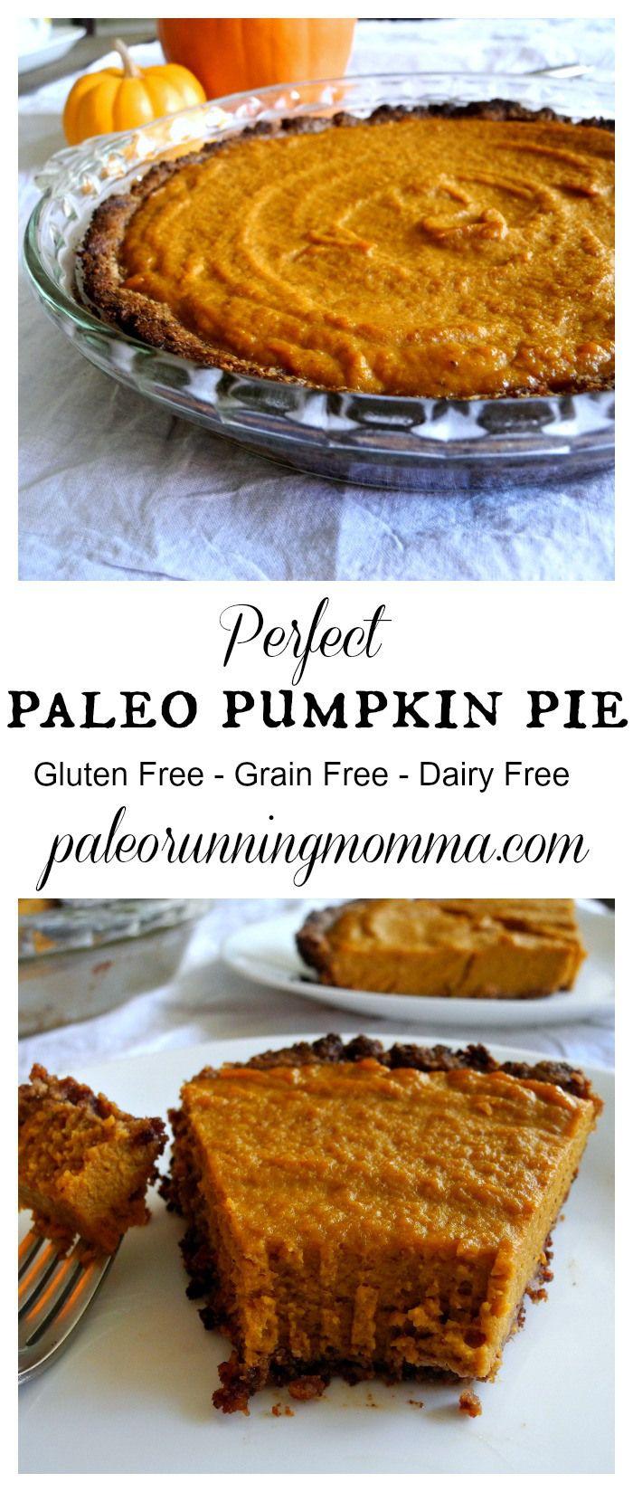 Perfect paleo pumpkin pie #grainfree #glutenfree #dairyfree