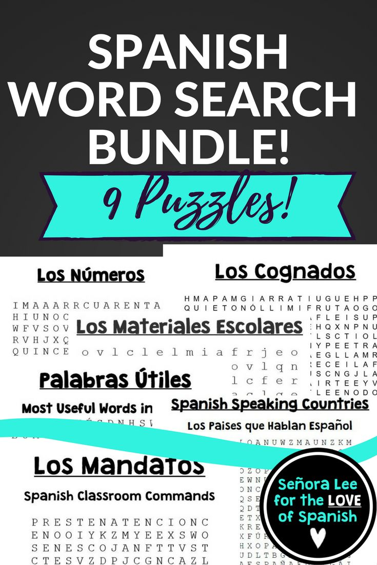 GOT SUB PLANS? This bundle includes NINE top selling Spanish word searches in one discounted bundle! Find essential vocabulary in challenging puzzles. Fun activity for first year Spanish students or to for a review. Use word searches to introduce a new unit, as an after test activity, for fast finishers or emergency lesson plans. My students beg for word searches!