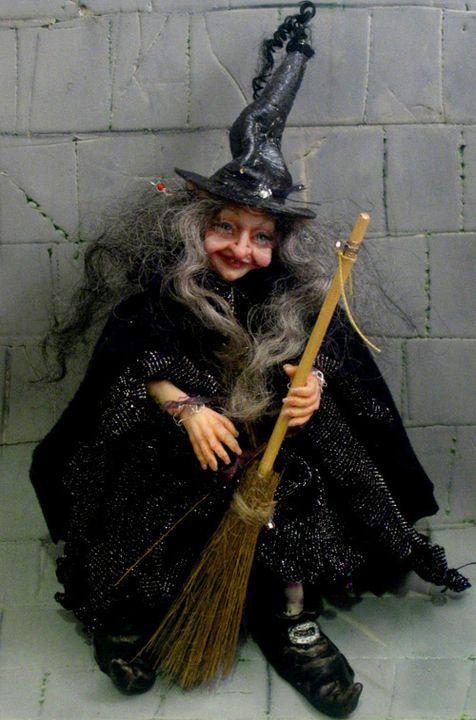 OOAK  Fantasy Witch Art  Doll  Made To Order  by Studionicol, $220.00
