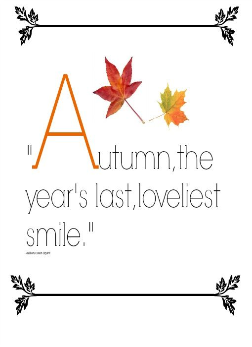 Fall Printable, very cute I just framed mine and getting ready for the Season, my fave!