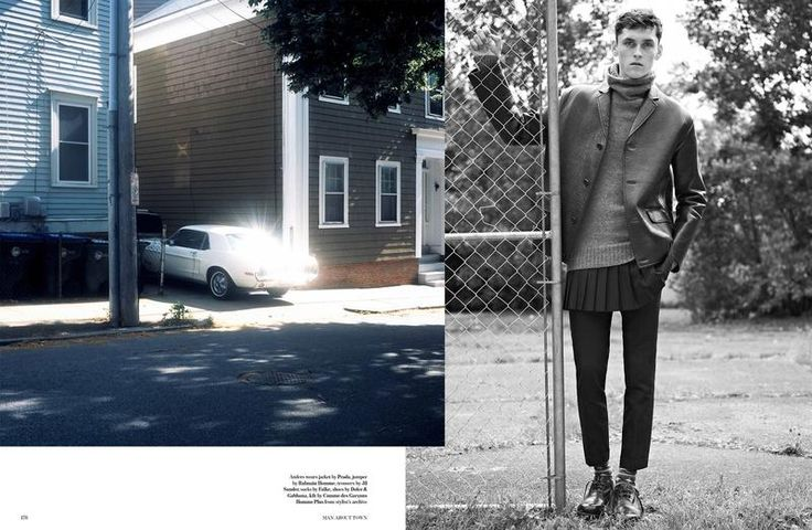 "Anders Hayward in ""All The Young Dudes"" by Karim Sadli for Man About Town - Fall Winter 2013-2014"