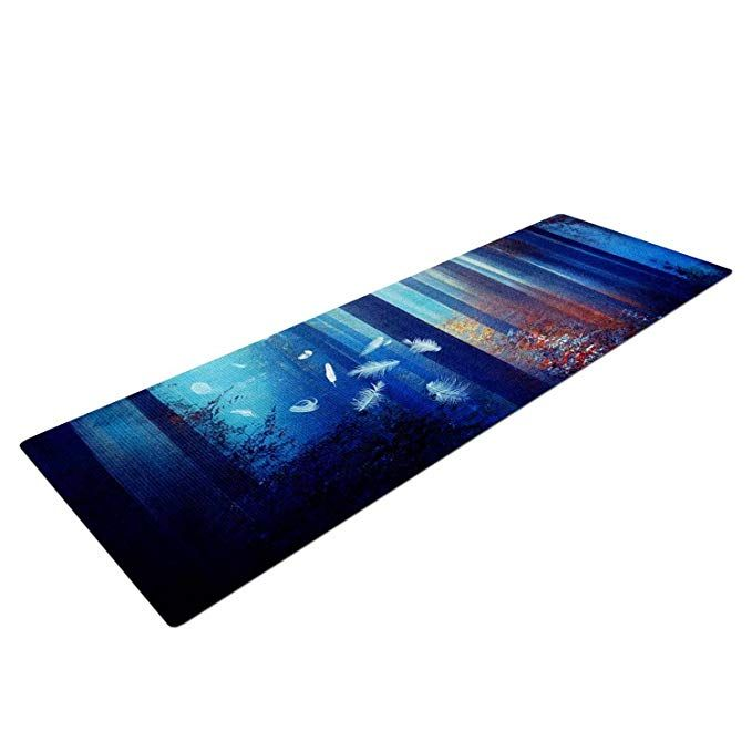 Kess Inhouse Viviana Gonzalez Dreams In Blue Yoga Exercise Mat 72 X 24 Red Trees Review Mat Exercises Red Tree Yoga Mat