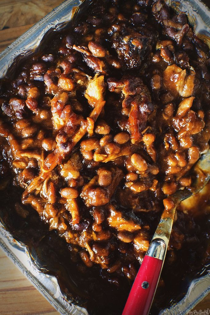 Slow Smoked Pork and Beans: Slow Smoked Pork and Beans