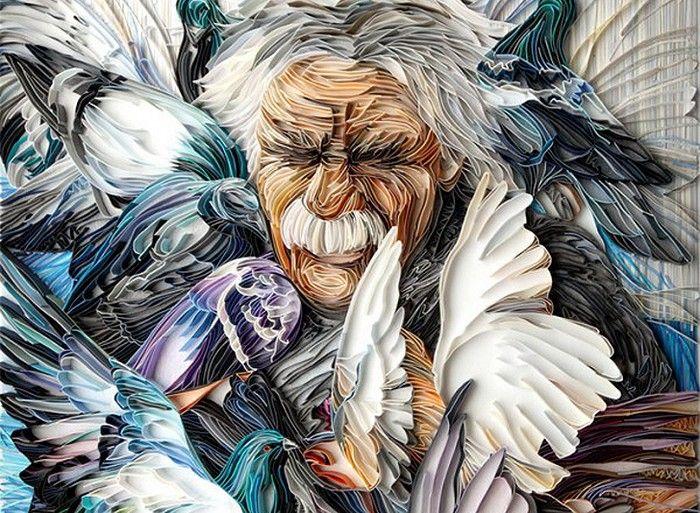 Впечатляющие полотна в технике «квиллинг» художницы из Британии – ИнфоМания