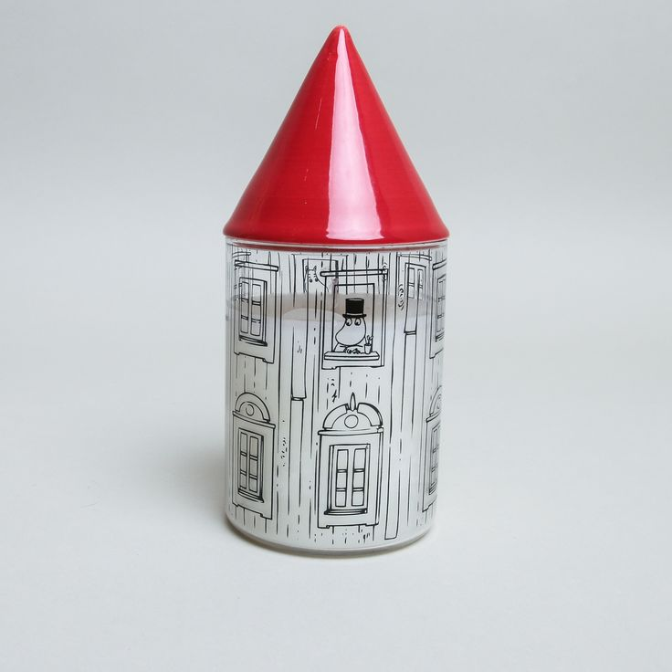 Moominhouse Candle With Extinguisher: Fun, iconic Moominhouse unscented candle, with the red roof doubling up as a candle snuffer to extinguish the flame safely. Once the candle is used, the container can be used as a storage pot. Comes boxed - a great gift.
