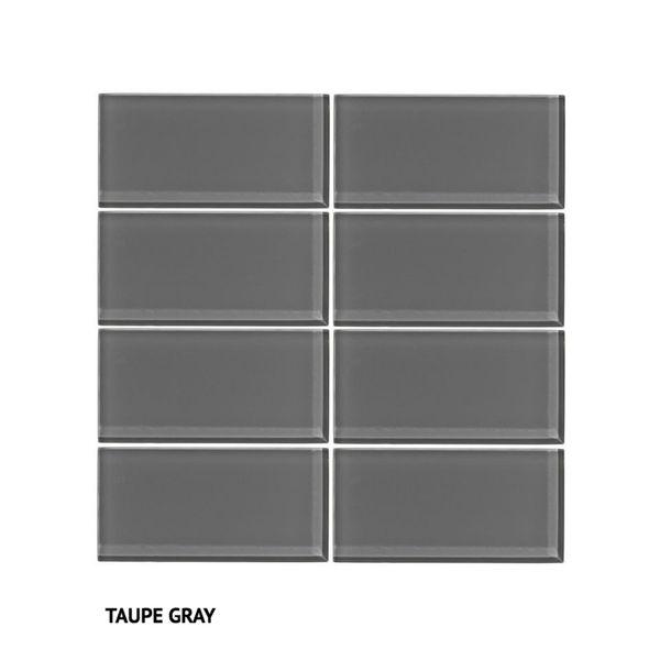 Vicci Design Grey Glass Subway Tiles (Pack of 48)