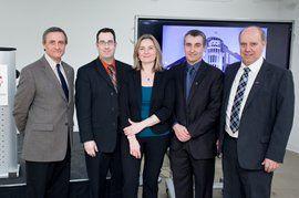 L'ÉTS a inauguré trois nouvelles chaires de recherche du Canada (CRC) et souligné le renouvellement d'une quatrième, le 26 février dernier, en présence d'une centaine de professeurs, de chercheurs et de partenaires de recherche.
