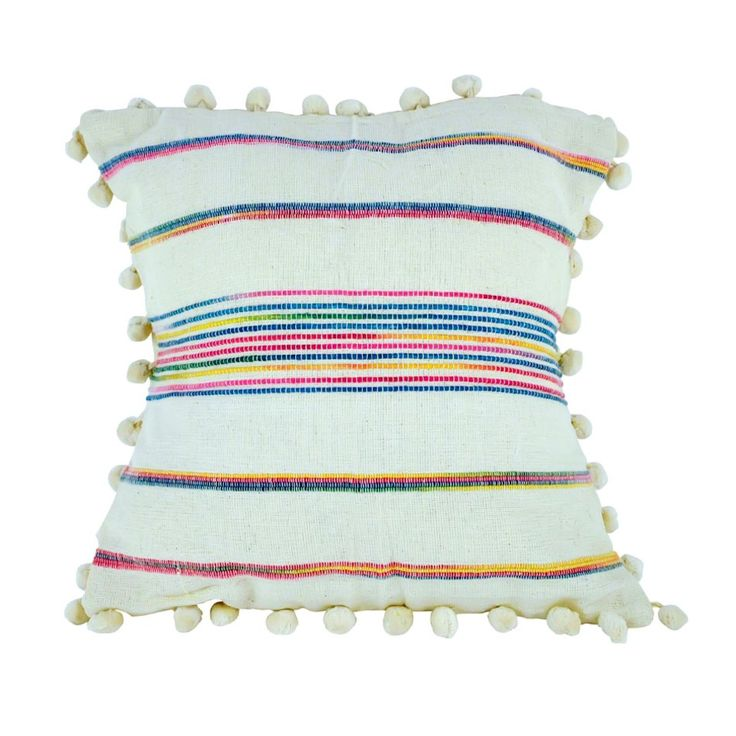 <p>This cushion cover is bound to help you find the most comfortable and stylish position on your couch. Cheerful brights on a neutral background mean this cushion cover will fit a variety of styles.</p> <p>Wash with mild detergent in cold gentle cycle</p> <p>100% Cotton</p> <p>40x40cm</p>