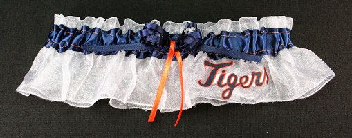 A personal favorite from my Etsy shop https://www.etsy.com/listing/86425877/detroit-tigers-baseball-wedding-bridal