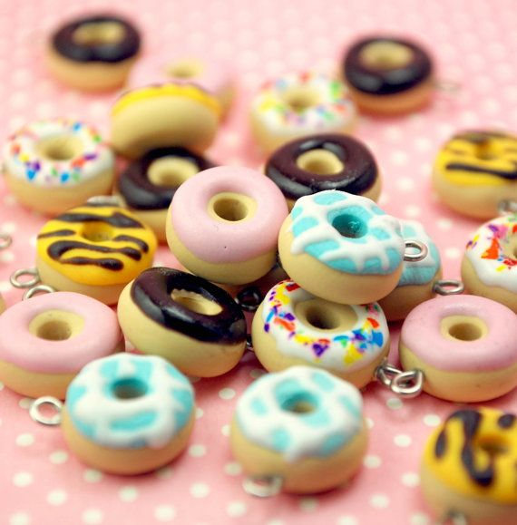 Polymer clay donuts