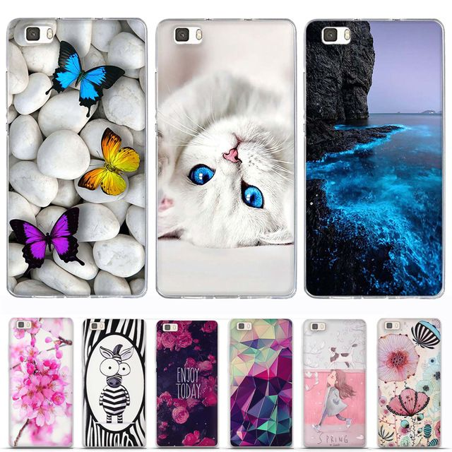 Phone Case for Huawei P8 Lite Case Cover 3D Relief Paint Printing ...