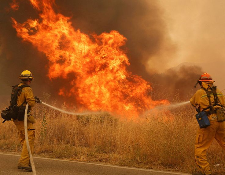 Low humidity and high temperatures have caused wildfires to spring up throughout California. Emergency fire personnel are working hard to end the blazes.