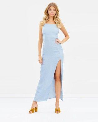 Atmos & Here – Juliette Maxi Dress Dusty Blue