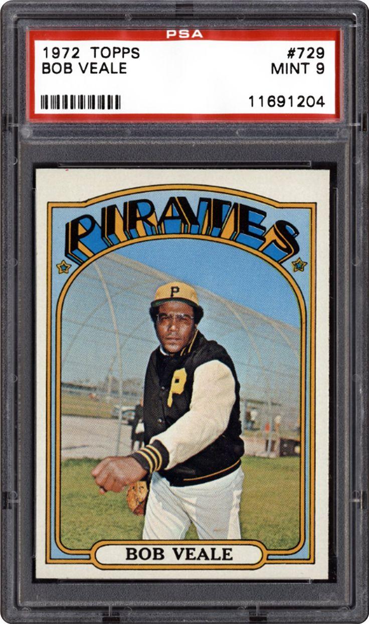 1972 topps 729 bob veale baseball cards baseball