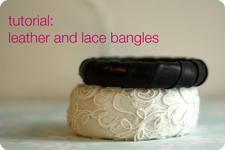 Tutorial on how to make the black leather bangle bracelet