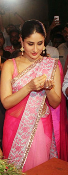 kareena kapoor in manish malhotra saree heroine promotion latest fashion trends 2012
