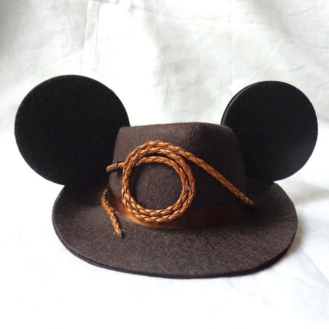 Mini Indiana Jones hat with Mickey ears. #indianajones #disney #mouseears…