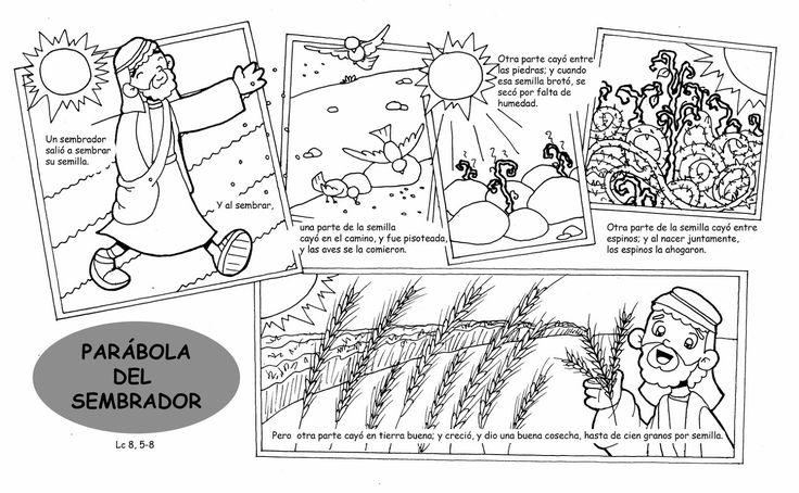 Dibujos para catequesis: PARÁBOLA DEL SEMBRADOR Y EXPLICACIÓN DE LA PARÁBOLA