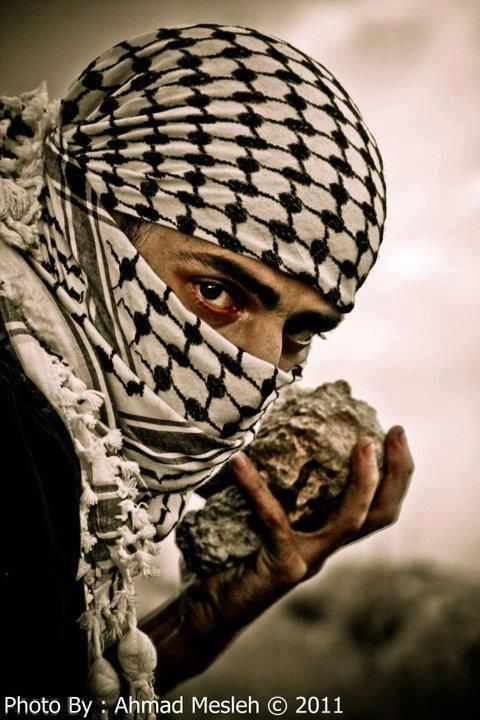 Lion of Palestine! fights for freedom to live on their own land with a rock for god's sakes... and Israel is claiming self-defense???