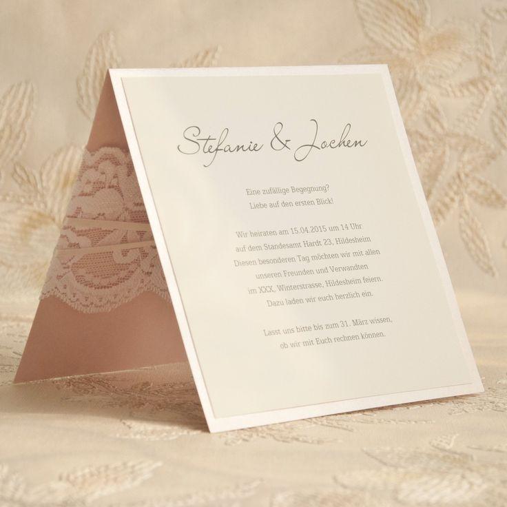 Einladungskarten Hochzeit Spitze   Einladungskarten Ideen