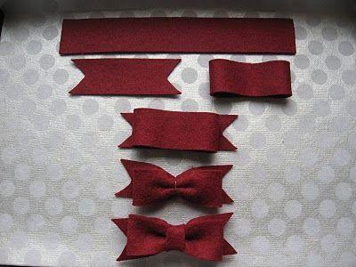 Festive felt bow DIY tutorial: Hairbows, Bows Tutorials, Felt Hair Bows, Diy Tutorials, Christmas Stockings, Felt Bows, Bows Diy, Festivals Felt, Valeri Paperi
