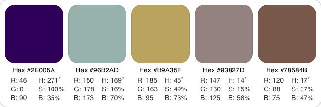 1930s color palette