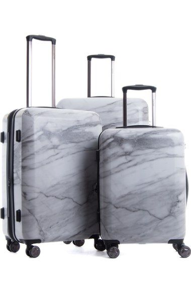 CALPAK Astyll 3-Piece Marbled Luggage Set available at Nordstrom $365