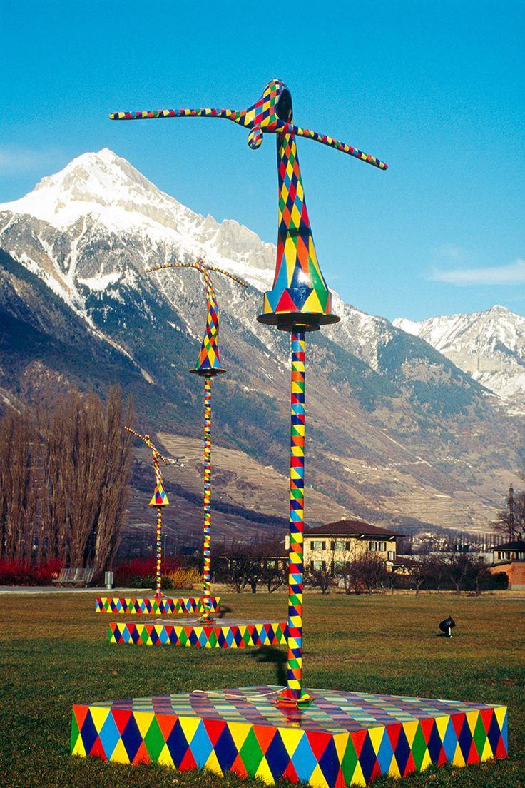 Kinetic sculpture artworks by Vassiliki. Alps.