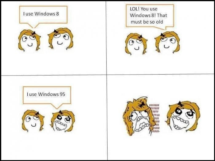 Really Windows 95 Is Latest? You Girls!!!
