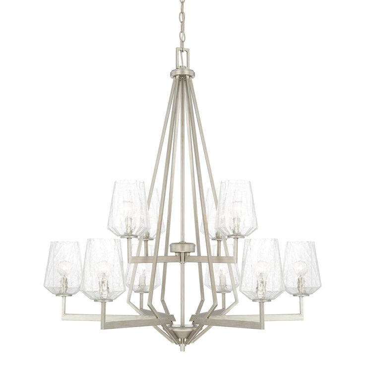 Capital Lighting Fixture Company Arden Brushed Silver Ten Light Chandelier On SALE