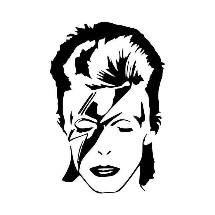 David Bowie Ziggy Stardust Vinyl Decal Sticker (With ...