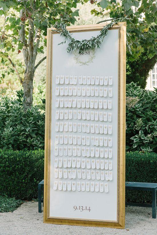 Amazing place card idea at! Wait till you see it up close http://www.weddingchicks.com/farm-table-chateau-wedding/