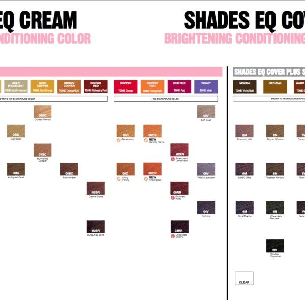 Redken Shades Eq Cream Hair Color Chart In 2020 Redken Shades Shades Eq Color Chart Redken Hair Color Chart