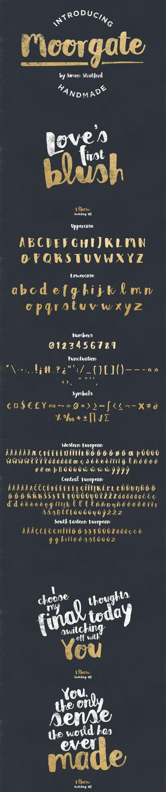 Moorgate brush script font. Script Fonts. $12.00