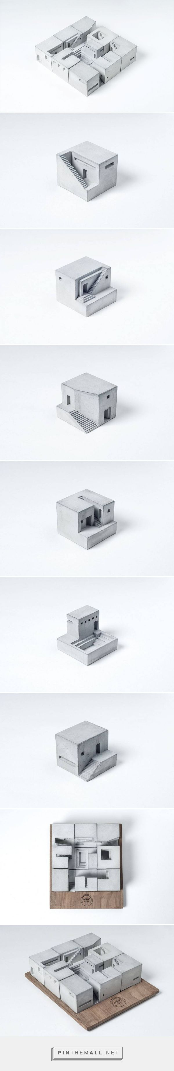 Miniature Concrete Buildings – Fubiz Media - created via http://pinthemall.net (How To Build A Shed On Concrete)