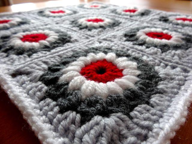 Sunburst Granny Square patchwork  #crochet